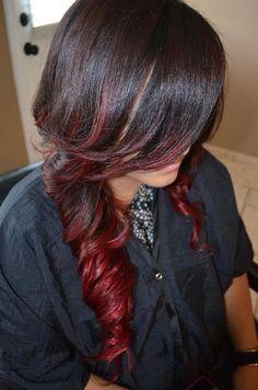 Hair color Red ombré