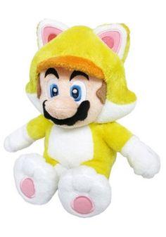 Peluche di Mario in versione gatto, dal videogioco Super Mario 3D World.