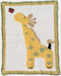 Baby JL Giraffe Crib Blanket Afghan Crochet Pattern - This is not the fastest baby blanket to make.  But I am by far the most proud if this one!