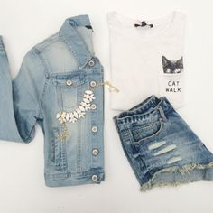 #Summer #Denim #Outfit #Inspiration #TALLYWEiJL