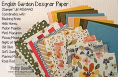 Stampin' Up! English Garden Color combos for handmade cards and DIY projects