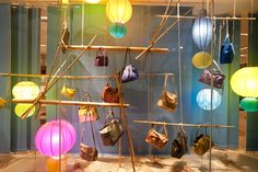 hanging shoes #holtswindows #spring