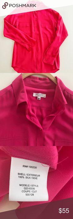 Selling this Equipment Signature Silk Shirt on Poshmark! My username is: rslaughter. #shopmycloset #poshmark #fashion #shopping #style #forsale #Equipment #Tops