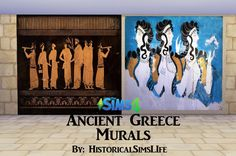 Sims 4 Updates: Historical Sims Life - Objects, Decor : Ancient Greece Murals, Custom Content Download!