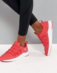 free shipping e032d 0fea8 Puma Running Ignite Flash Evoknit Satin Sneakers In Dusky ...