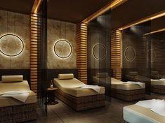 Home Spa Room, Spa Room Decor, Spa Rooms, Spa Design, Spa Interior Design, Salon Design, Japanese Spa, Spa Lighting, Wall Lighting