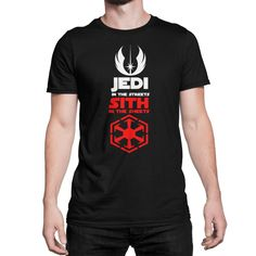 Jedi In The Streets Sith In The Sheets Star Wars T-Shirt Tee Shirt Funny Parody Geek Nerd