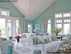 Sơn nhà màu xanh ngọc | Trang trí nhà đẹp