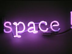 Light Up Neon Sign | Space | Word Art | Typography