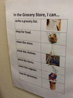 I can Grocery Store list-Susan Helfeld