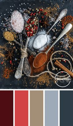 Sugar, spice, and everything nice. This Fall palette is the perfect balance of warm and cool tones. Color pallete - colors to wear for your next with in Scheme Color, Color Schemes Colour Palettes, Red Colour Palette, Color Balance, Color Harmony, Color Style, Colorful Interior Design, Resin Artwork, Design Graphique