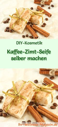 Kaffee-Zimt-Seife selber machen - Seifen-Rezept & Anleitung DIY Soap Recipe: Make Coffee-Cinnamon Soap Yourself - The scents of coffee and cinnamon complement each other perfectly! Coffee and cinnamon Make Your Own Coffee, Making Coffee, Diy Fragrance, Diy Beauté, Coffee Soap, Diy Hair Care, Cinnamon Recipes, Homemade Soap Recipes, Diy School Supplies