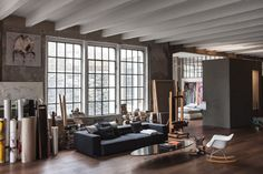 Gravity Home: Industrial Loft Apartment Filled With Artwork