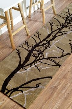 Sierra Tree Branches Taupe Rug Contemporary Rugs Rugsusa Pinterest And