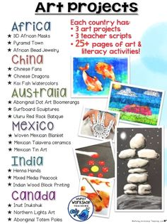 Integrate art and literacy with no prep or background knowledge with step by step tutorials for art history and art around the world! Middle School Art, Art School, College School, High School, Public School, Arte Elemental, Aboriginal Dot Art, Classe D'art, Elementary Art