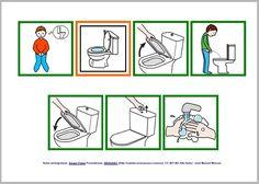 Activities For Autistic Children, Preschool Learning Activities, Daily Schedule Preschool, Autism Crafts, Sequencing Pictures, Kindergarten, Class Decoration, Toilet Training, Social Stories