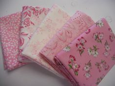 5 Pink Fat Quarters Moda Dogwood Trails by debbie1567 on Etsy, $10.00