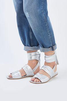 Tie Flat Sandals by Molly Goddard x Topshop