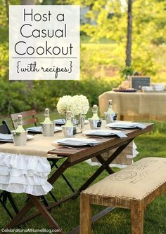 HOST A CASUAL COOKOUT {recipes included}