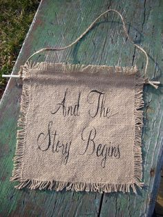 Burlap Bride Groom Chair Signs