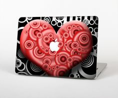 """The Industrial Red Heart Skin Set for the Apple MacBook Pro 15"""" with Retina Display from Design Skinz"""