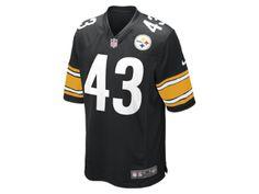 NFL Pittsburgh Steelers (Troy Polamalu) American football Uitwedstrijdshirt heren