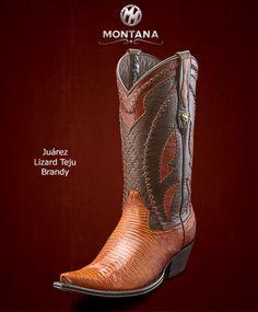 #Montana #Botas #Juarez #LizardTeju #Modelo JR203LT #Color Brandy #MontanaisBack