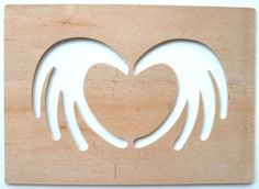 Beautiful Hand Crafted Drawing Template / Stencil - Two Stylised Hands Forming A Heart Shape (Style 1) by Greg Ledder http://www.amazon.co.uk/dp/B00CI43BSY/ref=cm_sw_r_pi_dp_g1Hjvb0AKKD4W