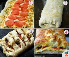 A criançada vai adorar esse rocambole de pizza  #iogiroreceitas #calzone
