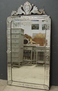 Large 19th Century Antique Venetian Mirror From Jasperjacks