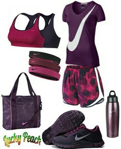 Women's fashion casual Nike workout outfit