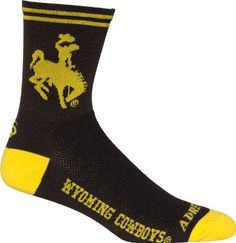 NCAA Wyoming Cowboys CyclingRunning Socks Brown SmallMedium ** Want to know more, click on the image.Note:It is affiliate link to Amazon.