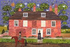 Chawton Cottage Caller by amanda white, Painting, Cut Paper Collage