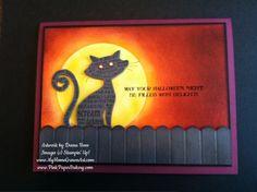 Very cool Frightening Feline card by Deena Boos.