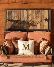 outside house decorations, barn, welcome signs, patio, back porches, deck, outside pallet signs, front porches, pallet wood