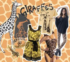 giraffe mood board fashion trend