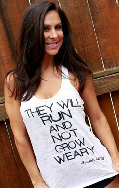 They Will Run and Not Grow Weary Burnout by FiredaughterClothing, $30.00