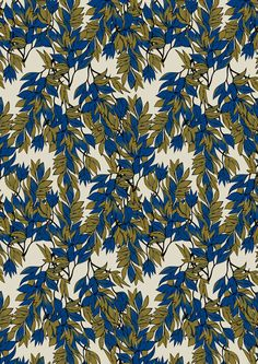 Interwind in Simmer. Digital print wallpaper and fabric by Emily Ziz