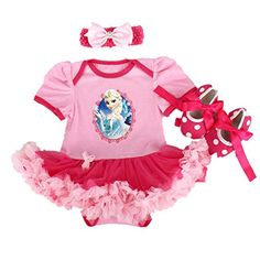 Starkma Elsa Newborn Infant Baby Girl Set Clothe Cake Dress F01 L612 month -- More info could be found at the image url.