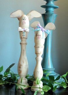Easter craft Candlestick Rabbits - can't wait to make these!