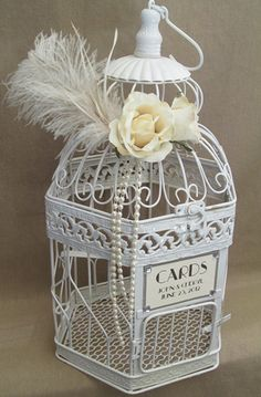 1920s party ideas wedding bird cagesbirdcage weddinggatsby weddingwedding card holderswedding