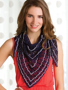 Plum Dandy FREE knit shawl pattern download. Find this pattern at Free-KnitPatterns.com.
