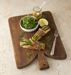 """""""There is something about the Irish palate that loves salmon. In this recipe I sometimes use monkfish or sea trout instead"""". Neven Maguire, Chef and Father. Salmon And Asparagus, Family Meals, Wraps, Foods, Recipes, Ideas, Food Food, Food Items, Recipies"""