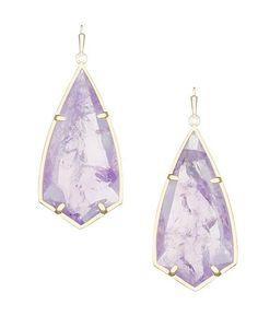 193b8b00a Kendra Scott Purple New Carla Semiprecious Stone Drop Amethyst 4217713100  Earrings 15% off retail