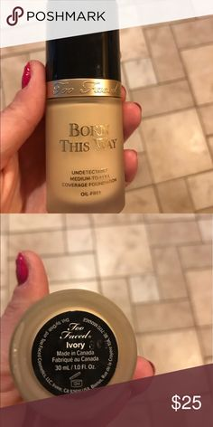 Too Faced Born This Way Liquid Foundation In Ivory. Opened and barely used. Makeup Foundation