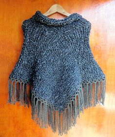 Poncho tejido con palillos (Poncho dos agujas) / #knit #poncho #knitted #poncho #needles #wear  by Suhyza