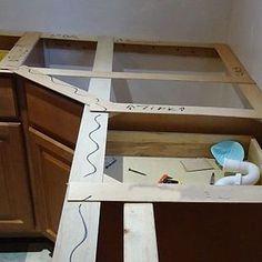 custom floating shelves on pinterest floating shelves solid wood and scribe. Black Bedroom Furniture Sets. Home Design Ideas
