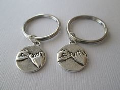 2 Pinky Promise Best Friends Keychains by HazelSarai on Etsy