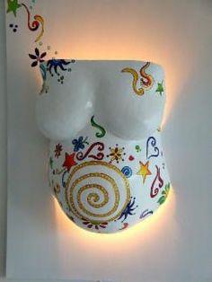 Lampen - Gipsabdruck, Bauchmaske, Babybauch, Schwangerschaft Düsseldorf