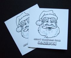 Christmas Cards,'Lets Colour In' Kids Personalised Christmas Cards 5pk £3.50